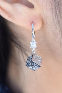 losangelesbeads Cubed Abstract Dangle Earrings