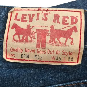 Levi's Red Levis Casual Rare Mens Relaxed Fit Jeans