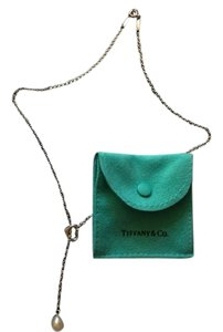 Tiffany & Co. Elsa Peretti Open Heart & Pearl Lariat