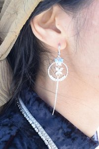 losangelesbeads Floral CZ Catcher Earrings