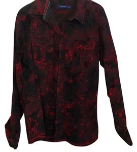 Georg Roth Los Angeles Mens Evening Shirt Button Down Shirt red