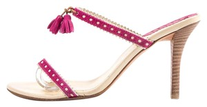Burberry Pink & Cream Sandals