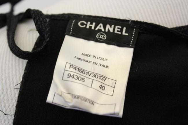 Chanel Silk Top Black