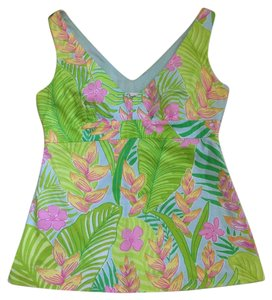 Lilly Pulitzer Top Green Pink Yellow Blue Orange