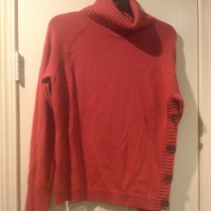 The Limited Paprika Color Cable Knit Side Buttons Detail Sweater