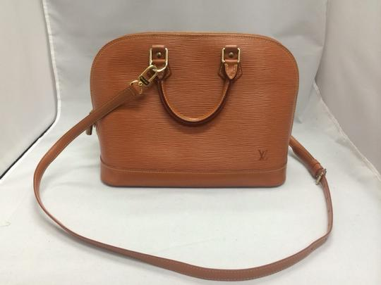 Louis Vuitton Handbag Alma Leather Epi Satchel