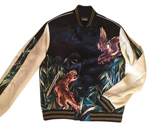 Saint Laurent teddy jungle souvenir eagle and tiger bomber jacket Multi color Jacket