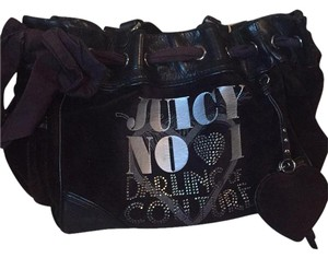 Juicy Couture Satchel in Black/Brown