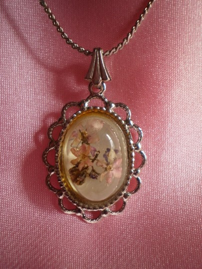 Other Flowers under glass necklace