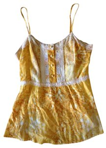 Free People Gypsy Spring Designer Fashion Top Yellow