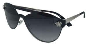 Versace New VERSACE Sunglasses VE 2161 1000/8G Silver & Black Frame w/Grey Gradient Lenses