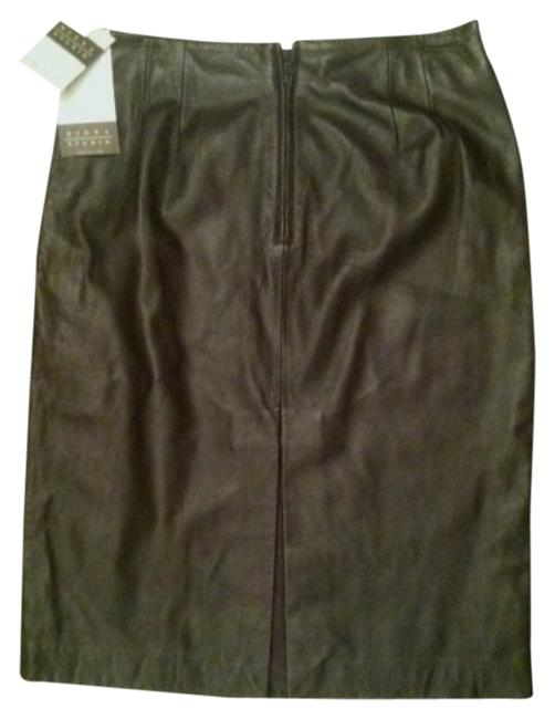 Siena Studio Leather Mini Skirt Dark Brown