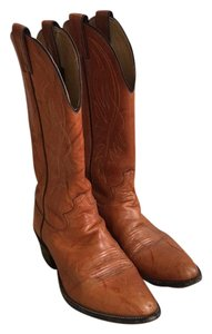 Justin Boots Western Cowboy Leather Chestnut Boots