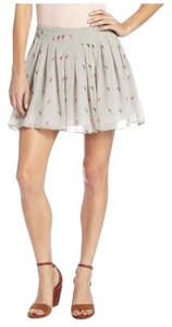 BCBGeneration Cute Pleated School Girl Girly Mini Mini Skirt grey