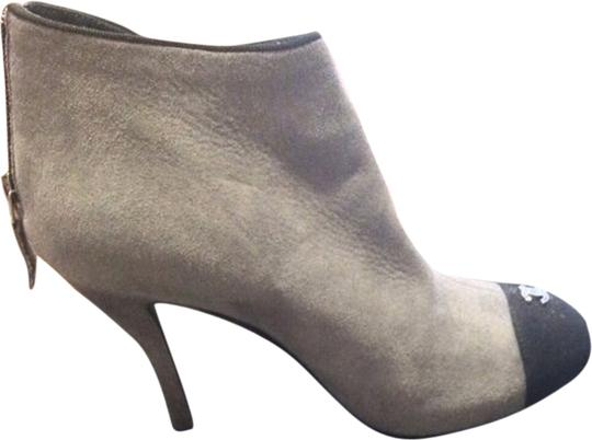 Chanel Gray and black Boots