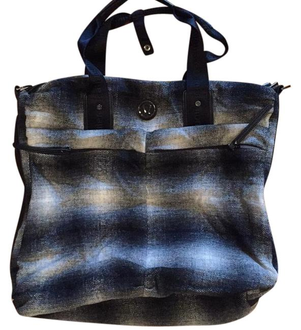 Item - Gray & Black Plaid Fast In Flight Activewear Gear Size OS (one size)