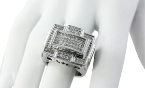4 Total Carats Princess Cut Paved Diamond Mens Ring