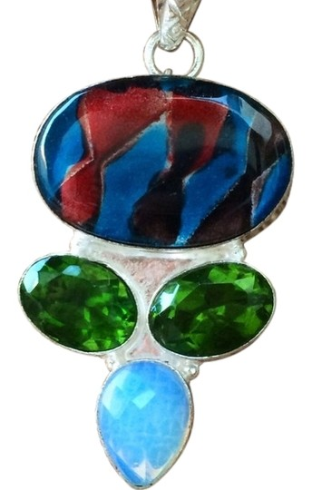 Preload https://img-static.tradesy.com/item/1556739/mulicolor-dichroic-glass-lab-green-peridot-and-moonstone-sterling-silver-pendant-necklace-0-1-540-540.jpg