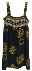 BCBGMAXAZRIA short dress Navy Blue, Gold/Yellow, Grey on Tradesy