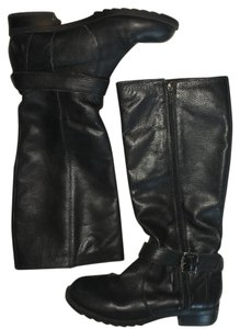 Kenneth Cole Reaction Leather Black Boots