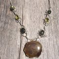 Other Handmade Labradorite, Citrine, Moss Agate & Sterling Silver Necklace Image 0