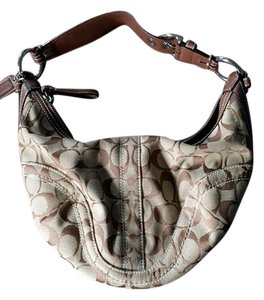 Coach Leather Small Hobo Shoulder Bag