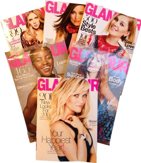 Other 6 Glamour magazines: May 2014, September 2014 through January 2015 (magazine bundle)