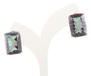 Other Emerald Cut shape 18x13mm Starburst cut Mystic quartz Earrings