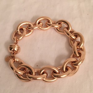 Milor Rose Gold Bronze over Silver Large Chunky Chain Link Bracelet Milor