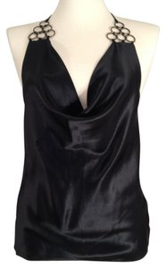A|X Armani Exchange Black Halter Top