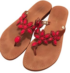 Ivanka Trump Brown and red Sandals