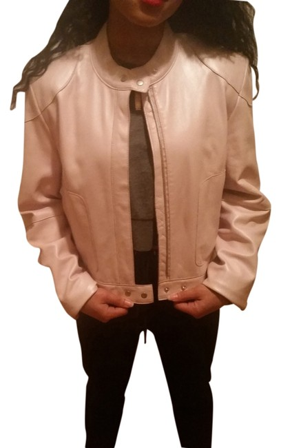 Wilsons Leather Light Pink Leather Jacket