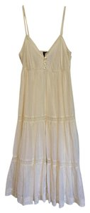 Cream Maxi Dress by H&M Lace Trim Crochet Wedding Beach Wedding