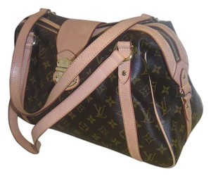 Louis Vuitton Brown Tan Coated Shoulder Bag