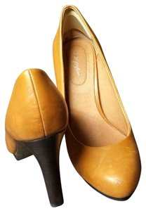 Halogen Leather Heels Nordstrom Casual Tan Pumps