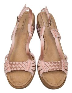 Bottega Veneta Gladiator Pink Leather and Satin Sandals