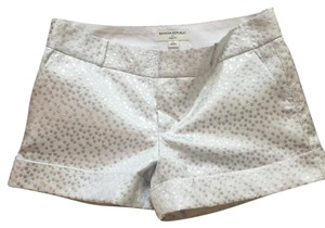 Banana Republic Cuffed Shorts White/Silver