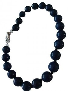 Lapis lapis lazuli blue beaded real stone navy bracelet