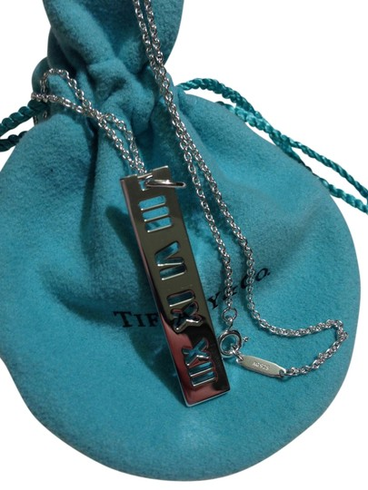 """Tiffany & Co. T&Co. 925 Sterling Silver Large 20"""" Atlas Pendant Necklace"""