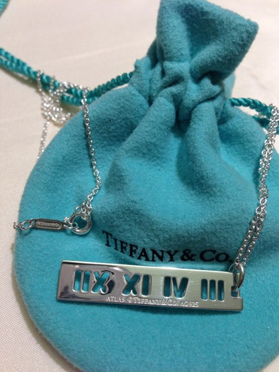"Tiffany & Co. T&Co. 925 Sterling Silver Large 20"" Atlas Pendant Necklace"