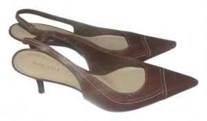 Nine West brown Leather Pumps