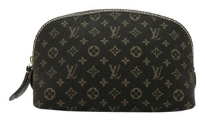 Louis Vuitton Monogram Mini Lin Idylle Brown Fusain Pochette Cosmetique Pouch Cosmetic Bag
