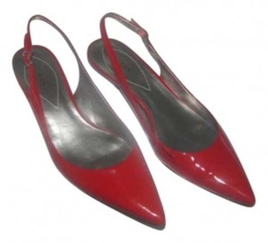 Guess Red Patent Leather Pumps