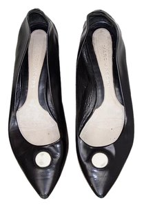 Marc Jacobs Retro Pointed Toe Black Leather Flats