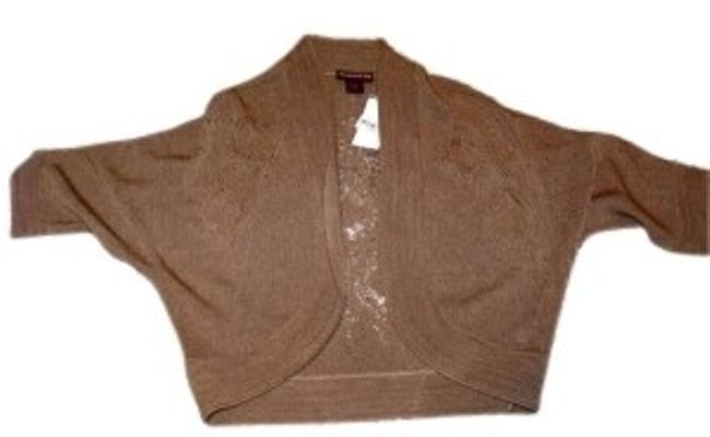 Preload https://item3.tradesy.com/images/hooked-up-by-iot-browntan-cardigan-sweaterpullover-size-12-l-155702-0-0.jpg?width=400&height=650