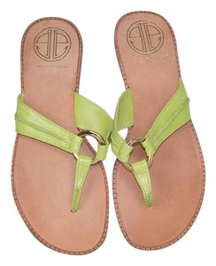Lilly Pulitzer Leather McKim Lime Green Sandals