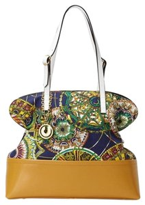 Charles Jourdan Hardware: Gold Tone Tote in Multi - Tan