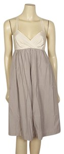 Gap short dress Light gray and ivory on Tradesy