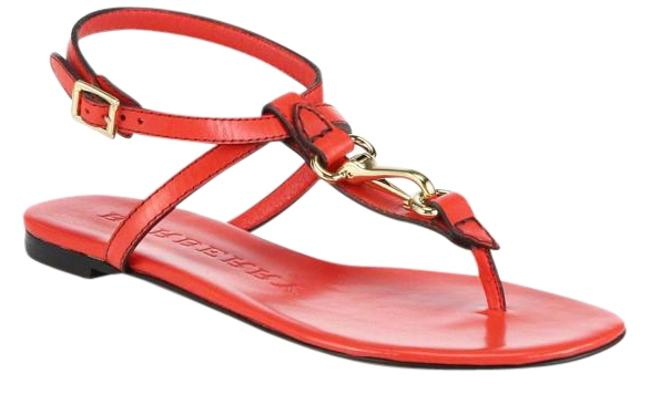 Item - Red Reason Leather Coral Sandals Size US 7 Regular (M, B)
