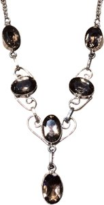 Other Smoky topaz sterling silver necklace